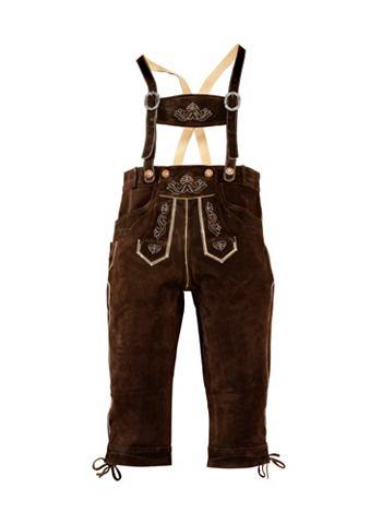 Kožené kalhoty, s tradiční výšivkou, Country Line