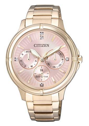 Multifunkční hodinky Citizen se Swarovski krystaly »FD2033-52W«