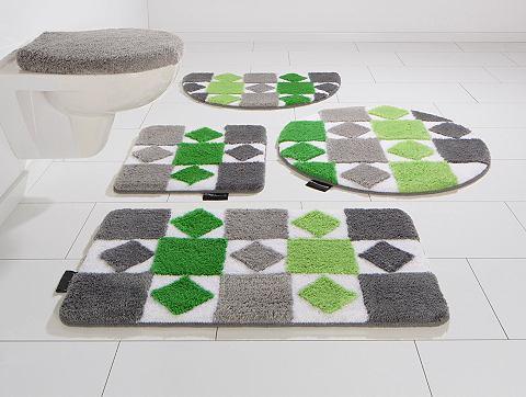 Koupelnový kobereček, 3-dílná souprava pro standardní WC, Bruno Banani, »Radasta«, výška 20 mm, protiskluzová úprava