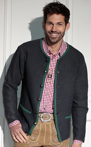 Pánský krojový svetr se zapínáním na knoflíky