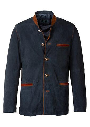 Luis Steindl Kožený kabát se stojáčkem
