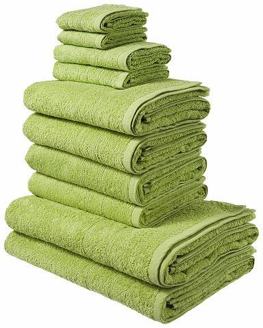 My Home Souprava ručníků, my home, »Inga« terakotová 10dílná souprava (podrobněji v textu)
