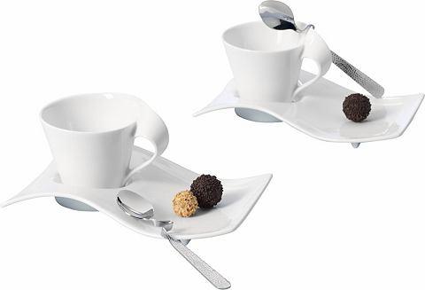 Villeroy & Boch Villeroy & Boch Souprava na cappuccino, porcelán, 6-dílné »NEW WAVE« bílá