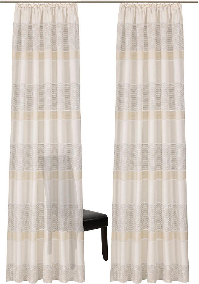 Záclona, deko trends »Antillo« řasící stuha (2 ks)