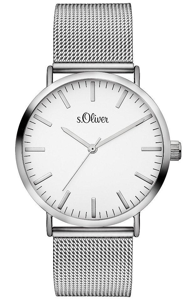 s.Oliver RED LABEL Náramkové hodinky stříbrná barva