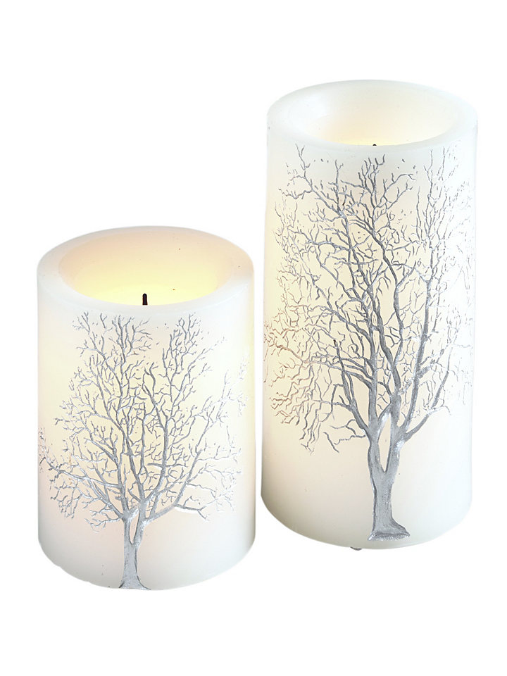 LED-svíčky 2-dílná souprava