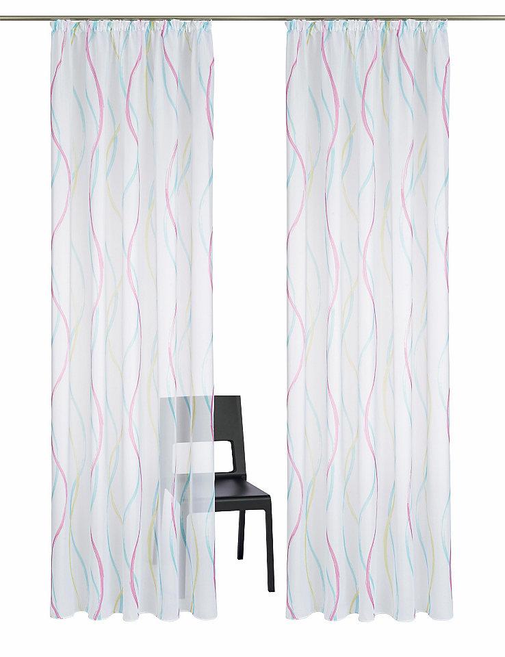 Záclona my home »Cervaro« řasící pásek (2 ks)