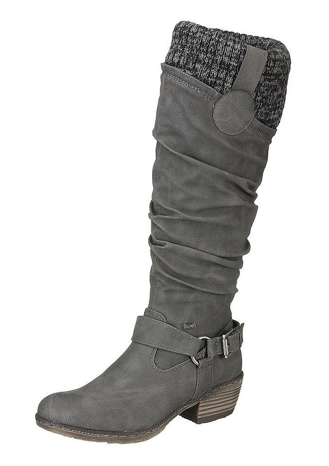 Rieker Rieker kozačky tmavě šedá - EURO velikosti - normální šířka 43 (8,5/9)