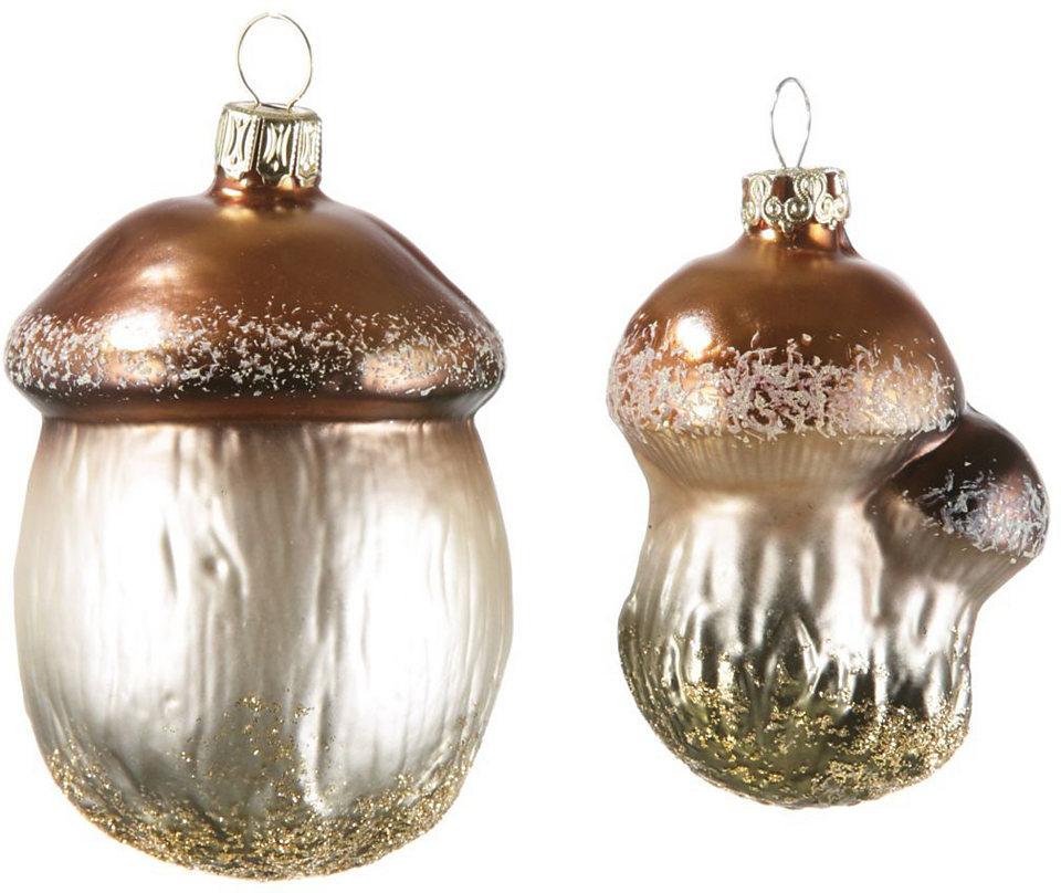 Thüringer Vánoční ozdoba, houby, 2-dílné, Made in Germany »adventur«
