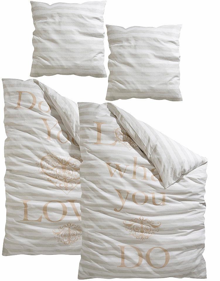 Ložní prádlo, my home Selection, s nápisem »You&Me«