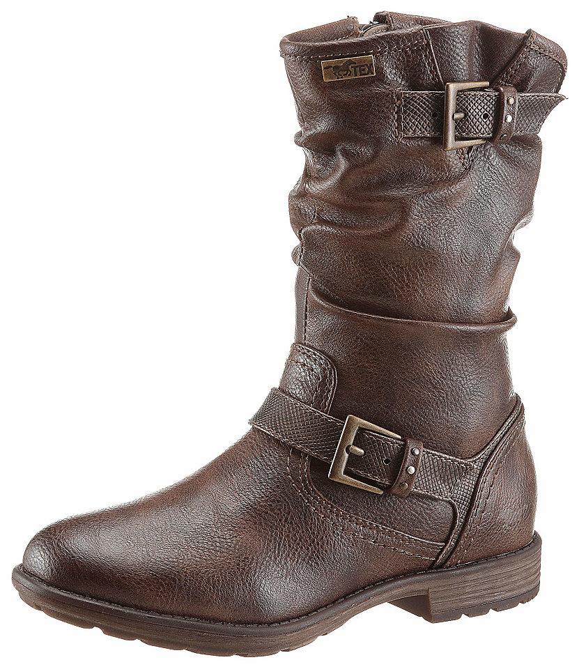 Mustang Shoes Shoes Zateplené kozačky tmavě hnědá - EURO velikost 35