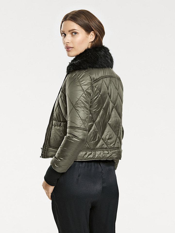 B.C. BEST CONNECTIONS by heine Prošívaná bunda, odnímatelný límec z imitace kožešiny