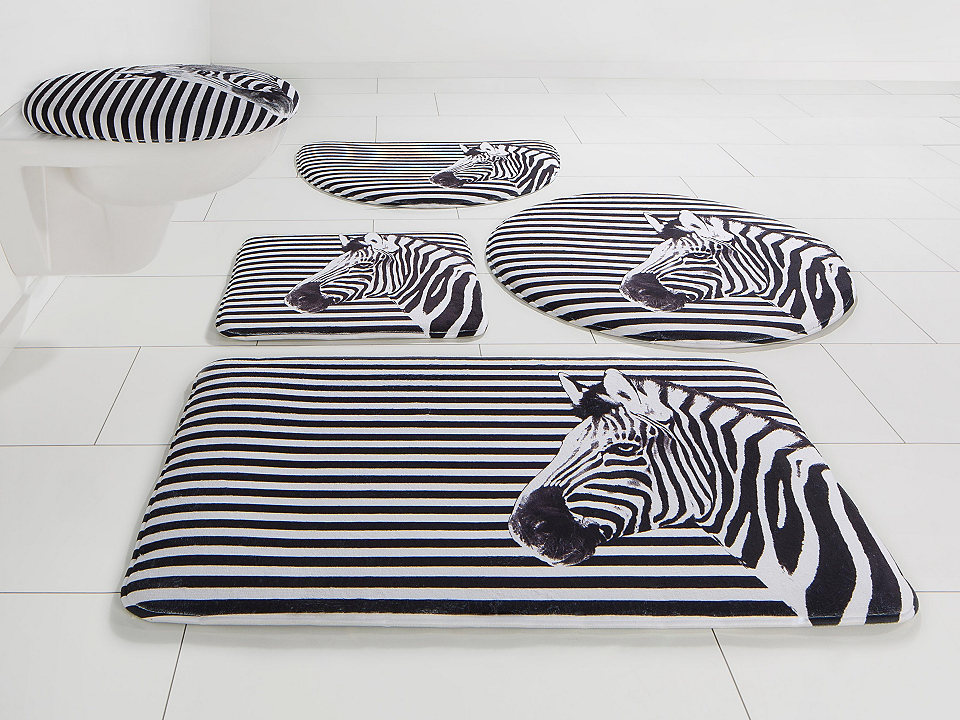 Koupelnová předložka, Bruno Banani »zebra« výška 14 mm