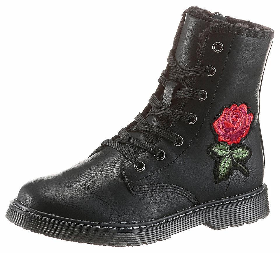 s.Oliver RED LABEL Šněrovací zimní boty vyššího střihu