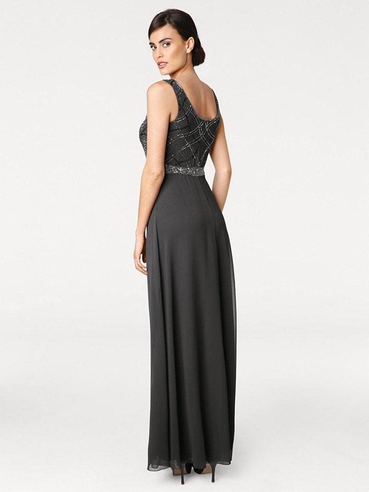 Ashley Brooke by heine ASHLEY BROOKE by Heine Večerní šaty s pajetky antracitová - standardní velikost 48