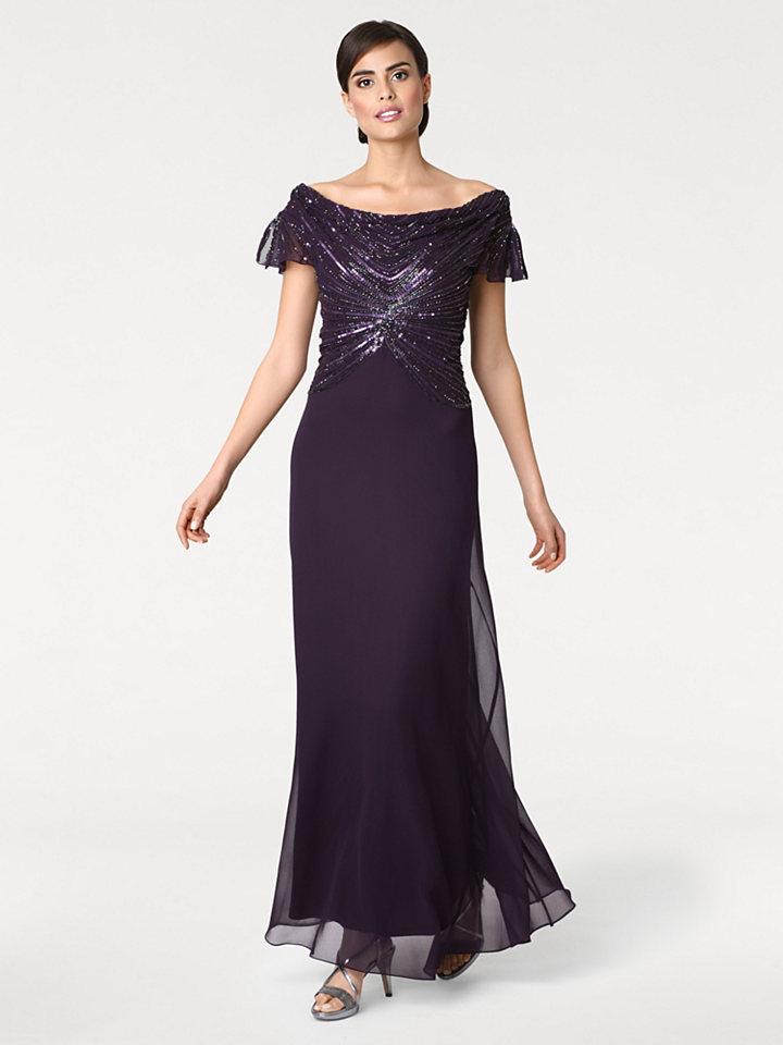 Ashley Brooke by heine ASHLEY BROOKE by Heine Večerní šaty s pajetky švestková - standardní velikost 48