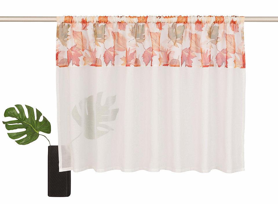Krátká záclona, Home affaire Collection »Forest« s tunelem na tyč (1 ks)