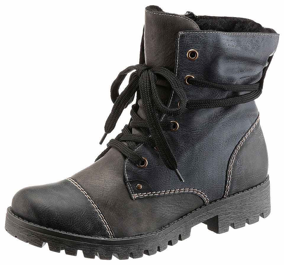 Rieker Rieker Zimní obuv modrá-šedá - EURO velikost 43