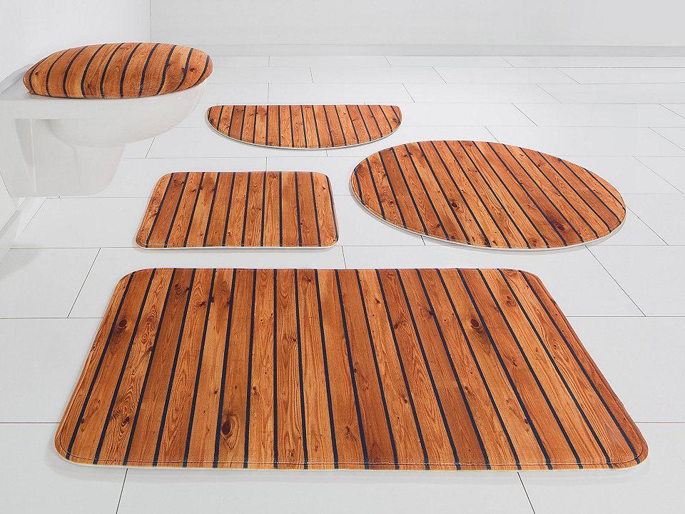 Koupelnová předložka, my home Selection, »Holzoptik«, výška 14 mm, paměťová pěna