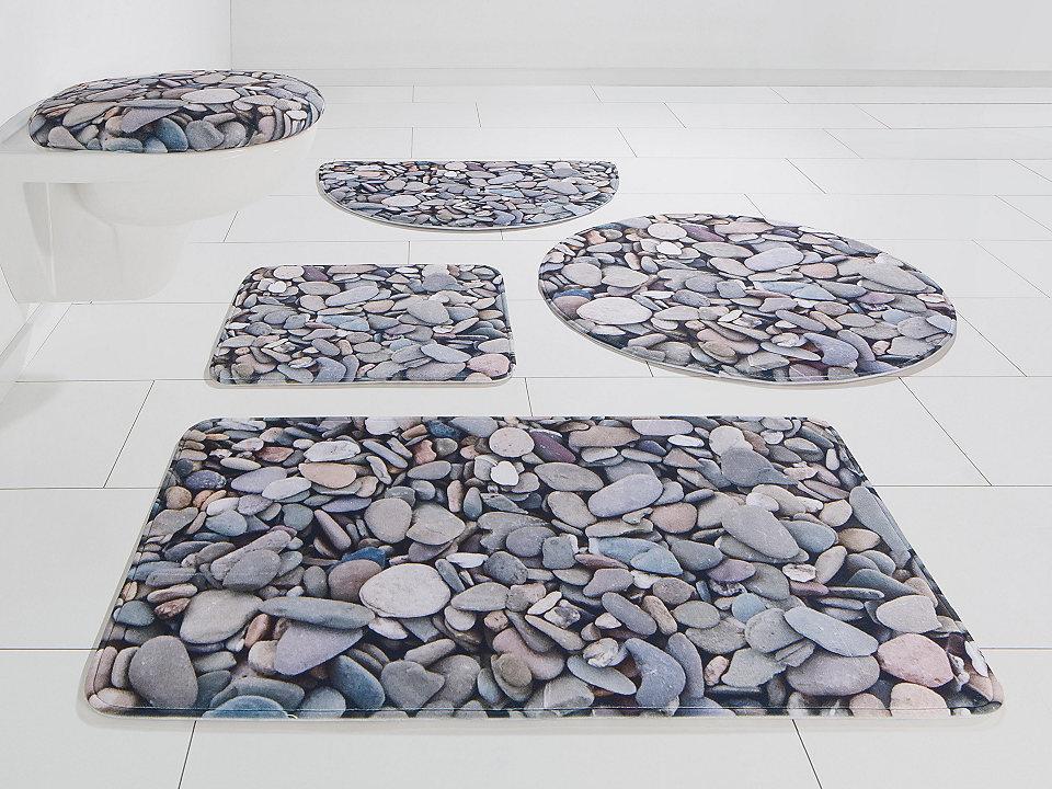 Koupelnová předložka, my home Selection, »Steine«, výška 14 mm, paměťová pěna