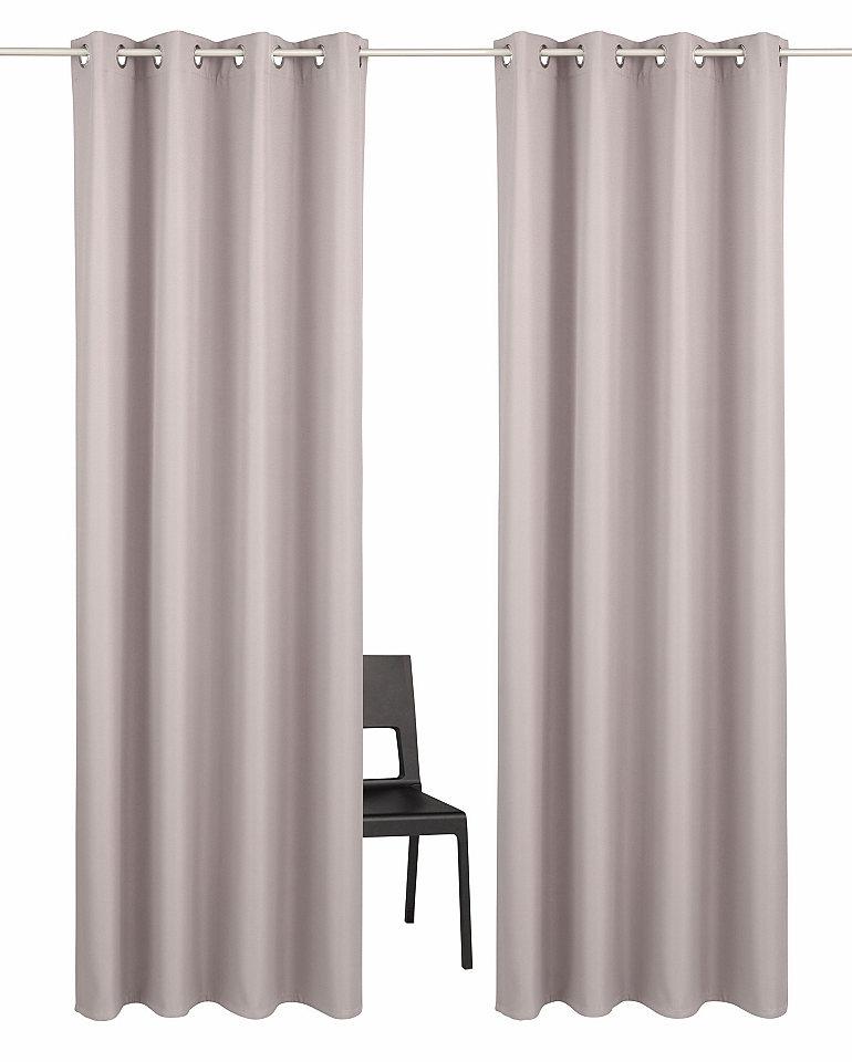 Záclona, My Home Selection »Amla« s očky (2 ks) + povlak na polštář