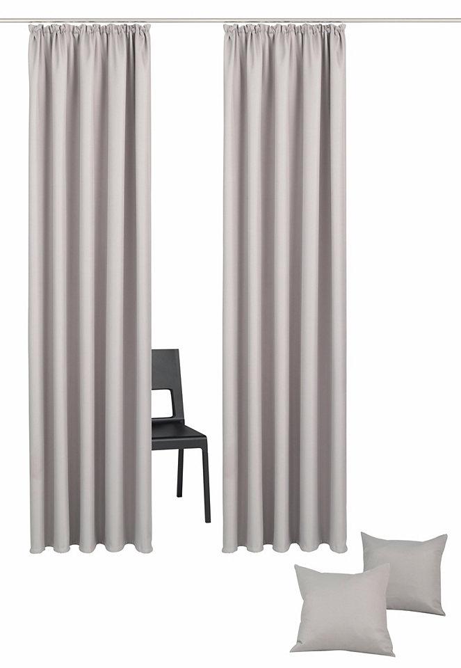 Záclona, My Home Selection »Amla« řasící páska (2 ks) + povlak na polštář