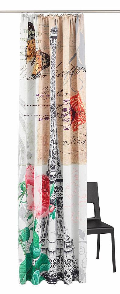 My Home Závěs, My Home »pohlednice« řasící stuha (1 ks) Eiffelova věž - Verdunkelnd/Energiesparend - řasící páska 6 (VxŠ 295x140 cm)