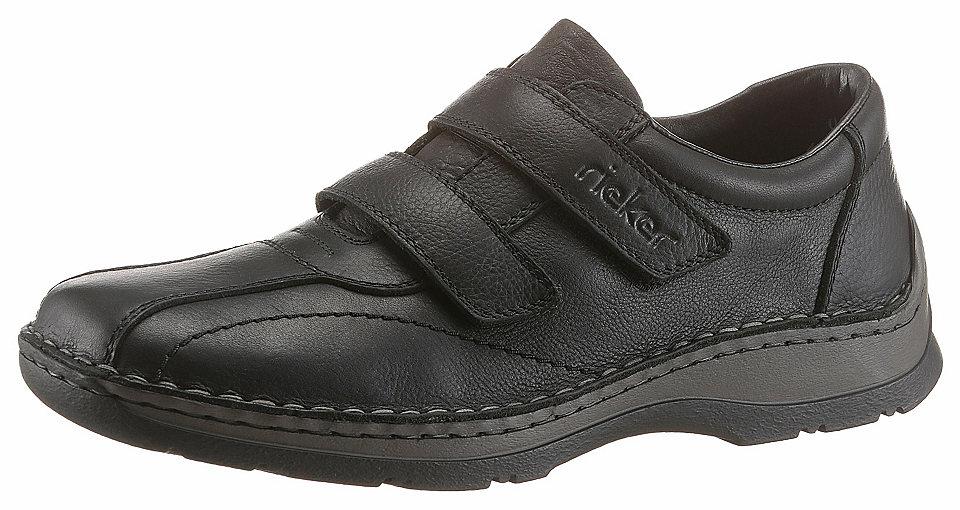 Rieker Kožené boty na suchý zip