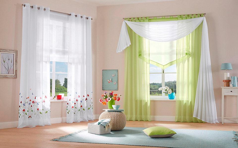 Záclona, My Home »Butterflies« se smyčkami (2 ks)