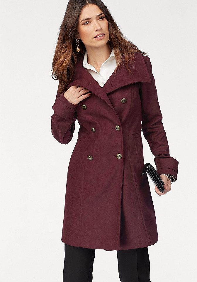 Bruno Banani Bruno Banani dvouřadý kabát khaki - standardní velikost 44