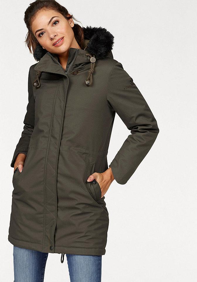 Dreimaster Dreimaster Dlouhý kabát olivová - standardní velikost S (36)