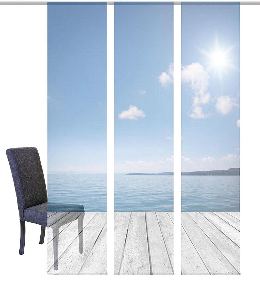 Panelový závěs, Home Wohnideen »OZEAN« na suchý zip (3 ks bez příslušenství)