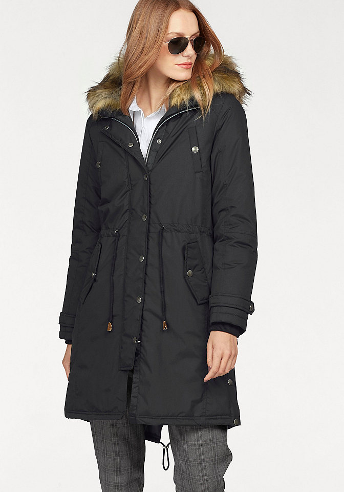 Claire woman CLAIRE WOMAN Dlouhá bunda černá - standardní velikost 38 (S)
