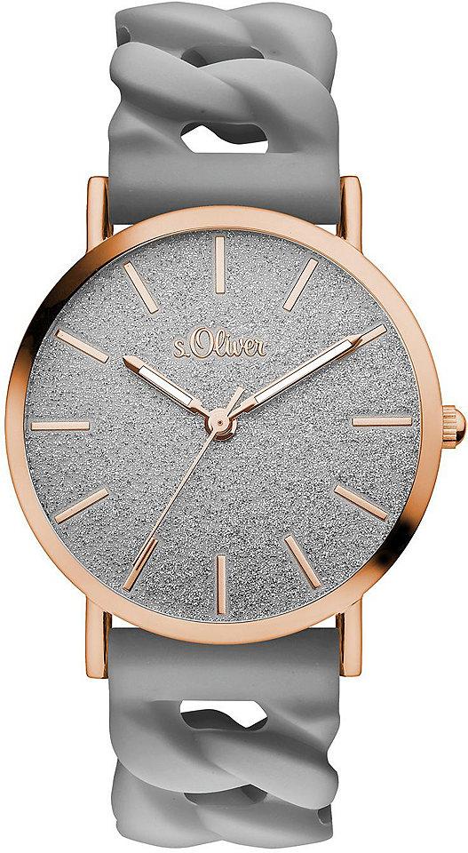 s.Oliver RED LABEL s.Oliver RED LABEL Náramkové hodinky Quarz »SO-3398-PQ« tmavě šedá