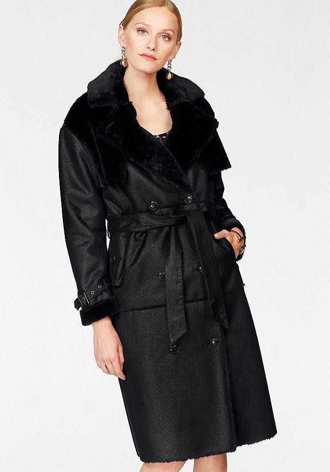 Bruno Banani Bruno Banani Koženkový kabát černá - standardní velikost 38 (S)