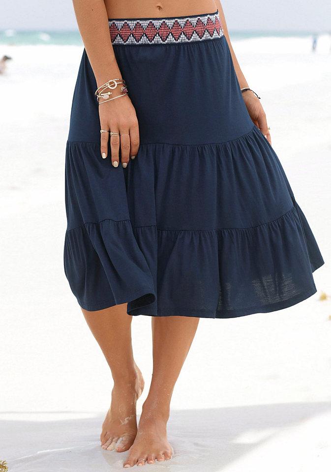 s.Oliver s.Oliver RED LABEL Beachwear Krátká letní sukně bílá 48/50