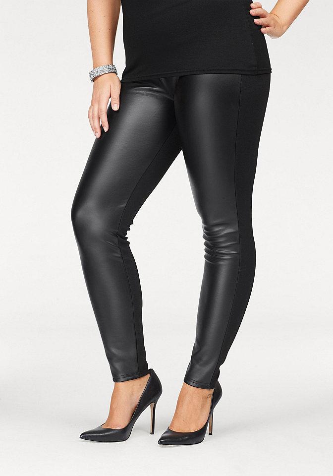 Melrose Melrose Koženkové kalhoty černá - standardní velikost 50