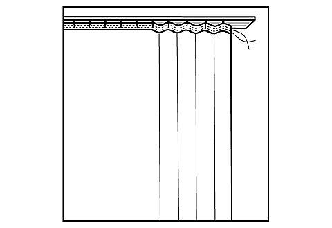 Oblouková záclona, my home »Eby« řasící stuha