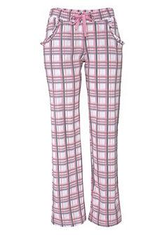 Kényelmes pizsamanadrág, LASCANA, puha single dzsörzé anyagból, csíkos és kockás mintával