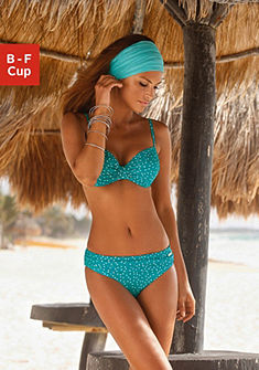 Merevítős pöttyös mintás bikini, LASCANA