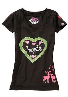 Krojové tričko, s potiskem a výšivkou, Marjo