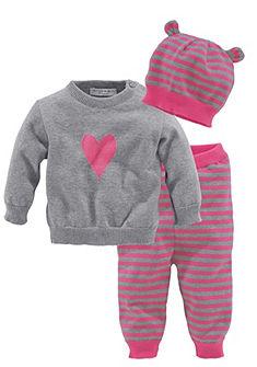 Klitzeklein újszülött ajándékszett : pulóver, nadrág, sapka (szett, 3 részes), bébiknek