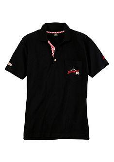Krojové polo tričko, náprsní kapsa s výšivkou, OS-Trachten