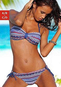 Pánt nélküli bikini trendi mintával és kivehető szivacsbetéttel, s.Oliver