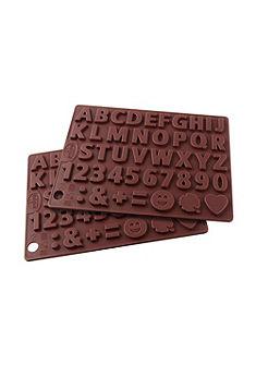Silikónová forma na čokoládu »písmená a čísla«, Dr. Oetker (2-dielna súprava)