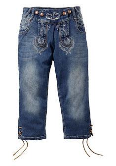 Krojové džíny se šněrováním na nohavici, Marjo