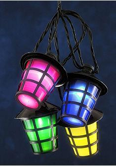 Lampiónový světelný řetěz s LED (20 žárovek)