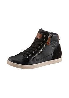 Tom Tailor fűzős magasszárú cipő divatos anyagösszetételben