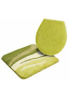 Fürdőszobaszőnyeg, szett fali WC-hez, my home, »Wave«, vastagság 25 mm, csúszásgátló hátoldallal