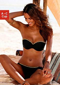 Merevítős, pánt nélküli bikini díszítő szegéllyel, LASCANA